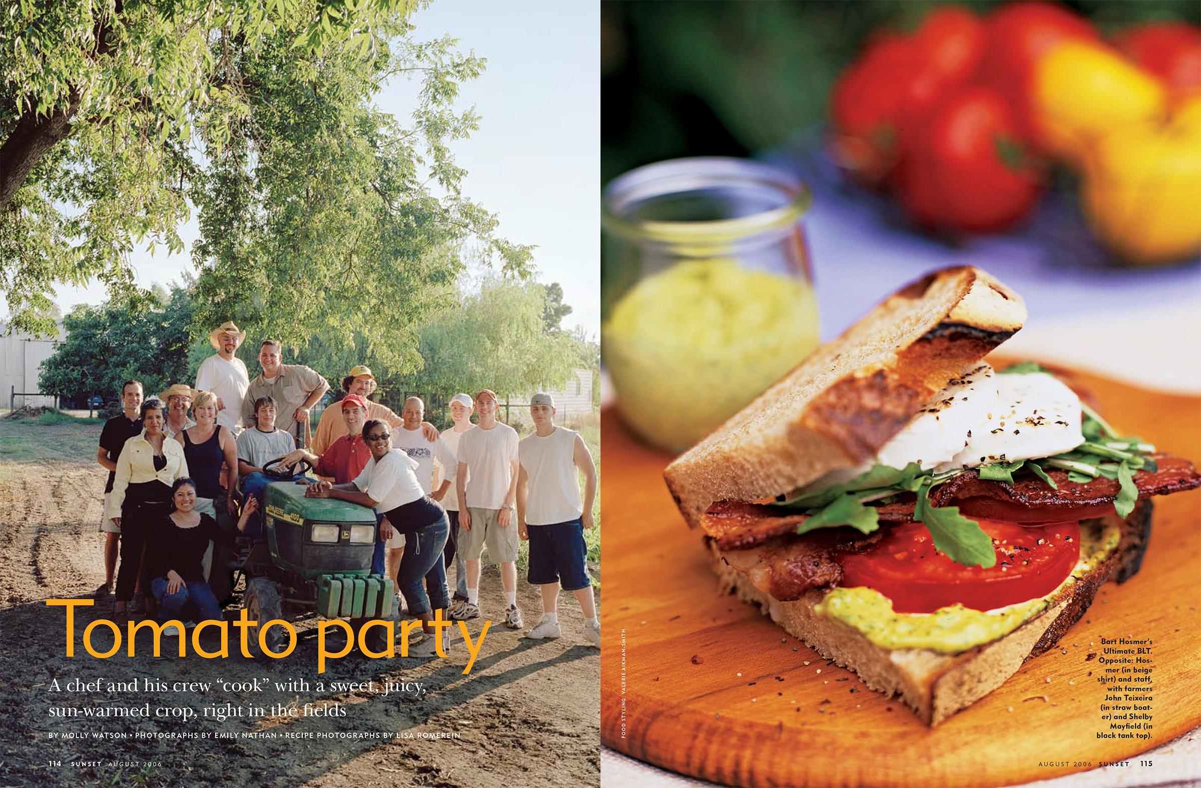 Tomato Party spread