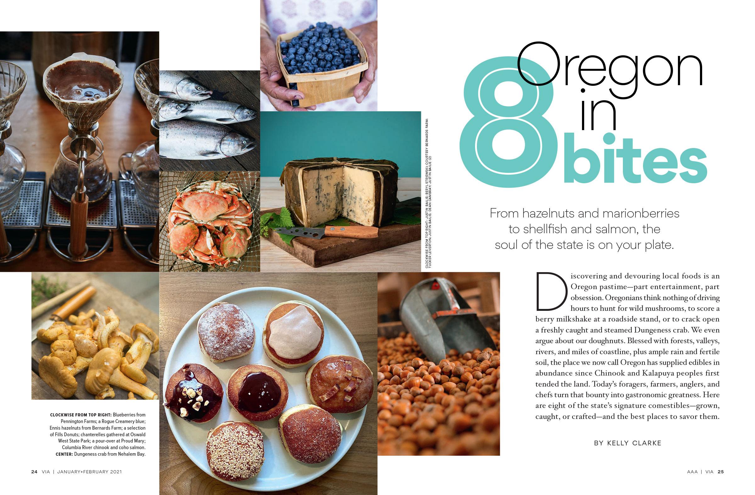 Oregon in Eight Bites spread