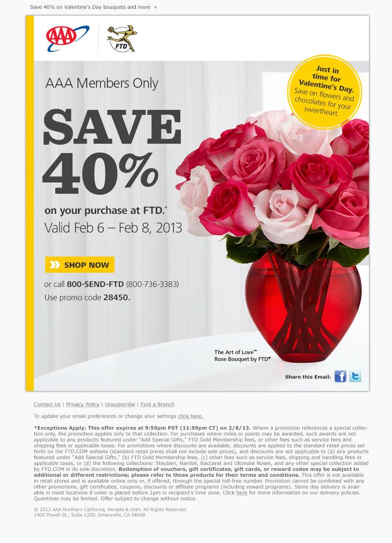 FTD Valentine email