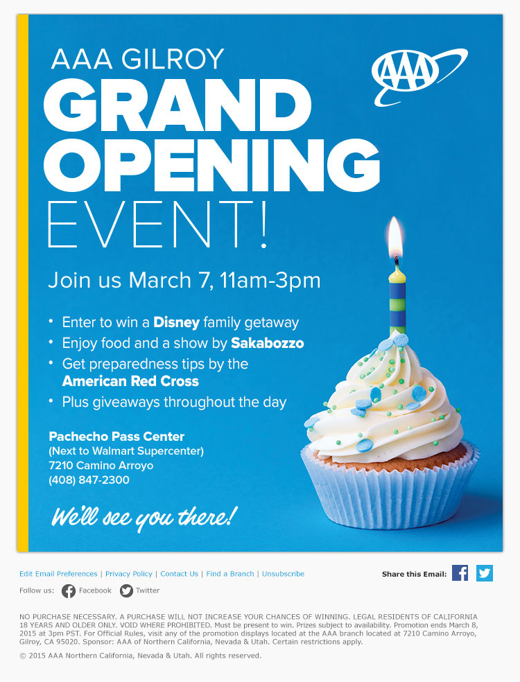Grand Opening email